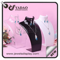 China wholesale mannequin handmade high quality luxury acrylic necklace display holder stand