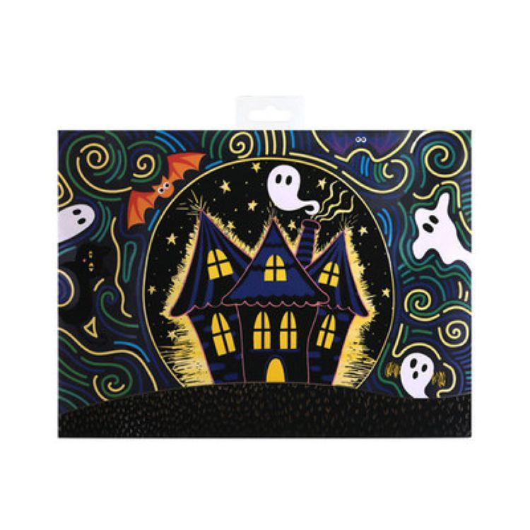 CU6040 Halloween skull design scratching art for kids , gift and craft