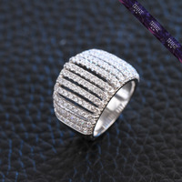JR0088-New 2016 Men's Women's Ring Multi Zircon Silver Jewelry Ring