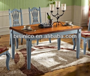 Bisini Dining Set, English Country American Style Dining Room/Kitchen  Furniture Set Table