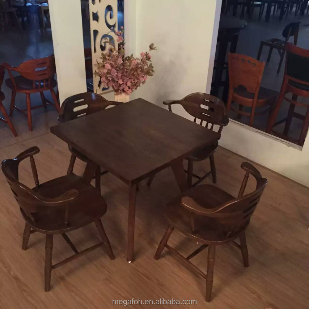 Modern canteen used restaurant tables and chairs furniture for sale (FOH-WRS30)