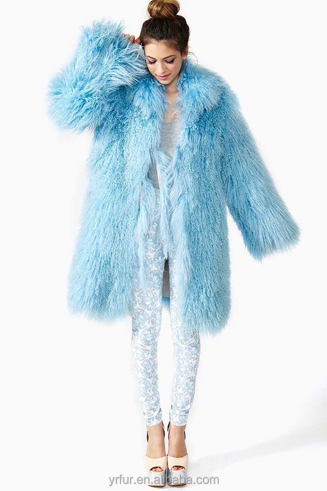 Yr659 Star Fashion Design Mongolian Lamb Fur Coat Genuine Women ...