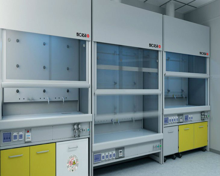 Vertical laminar flow hood/clean bench with uv lamP