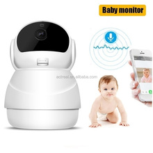 Wireless Nanny Cam Hidden Camera with PTZ Motion Detect Two Way Audio Night Vision Remote Control 2.4G WiFi Baby Monitor