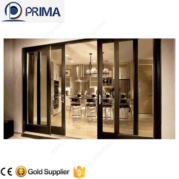 Luxury sliding glass restaurant entrance doors