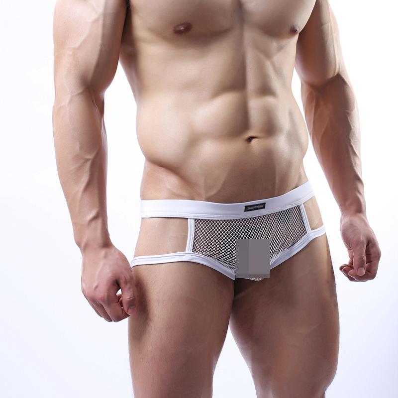 С26 мужская чистой сетка трусы стринги стринги танга экзотические отверстие назад нижнее белье спортсмены