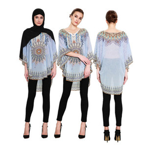 Moroccan Clothing Islamic Printed Abaya Sexy Dress For Women