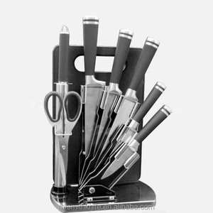 high quality 8pcs stainless steel knife set with acrylic holder