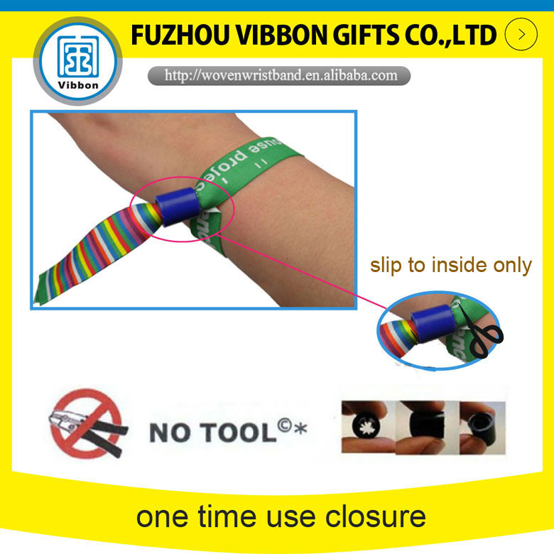 Promotional Satin Ribbon Wristbands Bracelets For Event