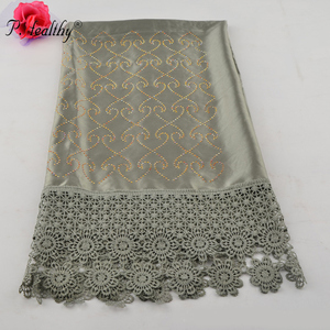 Phealthy Factory silk lace stones women scarves and shawls soft muffler luxury islamic hijabs