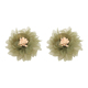 JURAN Cute Ethnic Yarn Flowers Stud Earrings High Quality Women Fashion Trendy Brand Bohemia Earrings Girl Jewelry Accessories