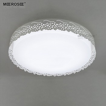 Meerosee Round Plastic Ceiling Lights Cover Led Flush Mount Light Ing Md83061