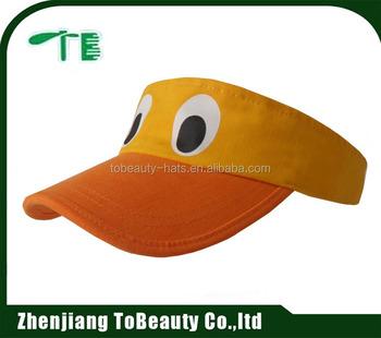 Yellow Funny Visor Hats 6305766bc4b8