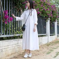 2017 Latest Design Women Chinese Traditional Modern Long Cheongsam High Waist A-Line Stripe Dress