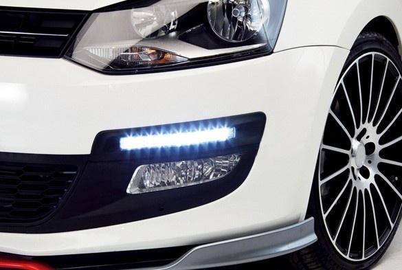 2 шт. x белый автомобиль 8LED DRL дневные ходовые огни комплект супер-белый фара
