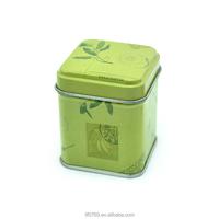 Square mini candle box tin containers