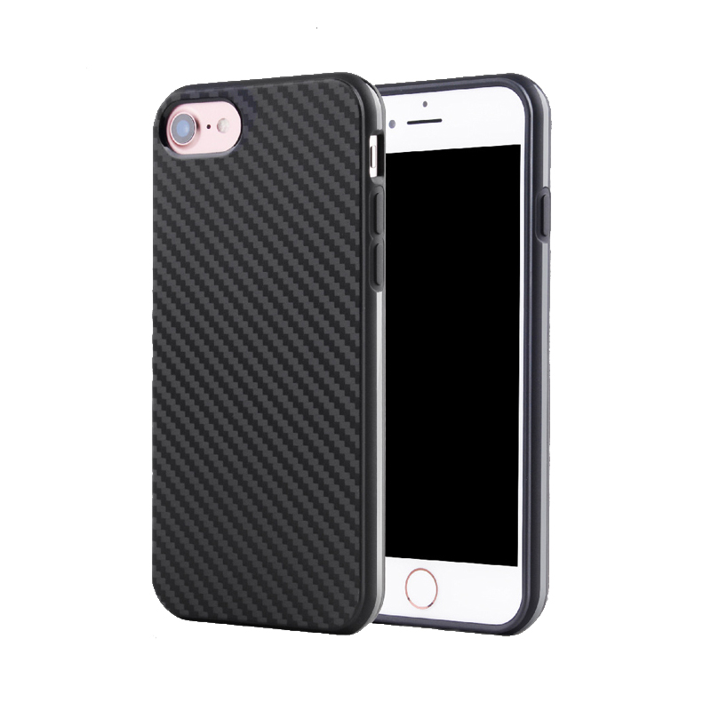 2017 New & Fashion <strong>accessories</strong> high quality carbon fiber phone case for iphone 7 & for iphone 7 plus black, 100pcs Can Mix Model