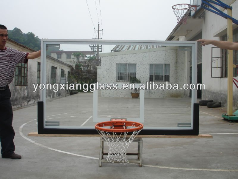 2013 New Design Tempered Glass Basket Ball Board
