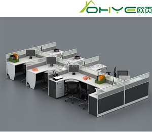 China suppliers standard sizes of workstation furniture computer four people office workstation