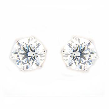 1 Carat 2ct Real Large Unique Diamond Stud Gold Earrings For Men Women Fine