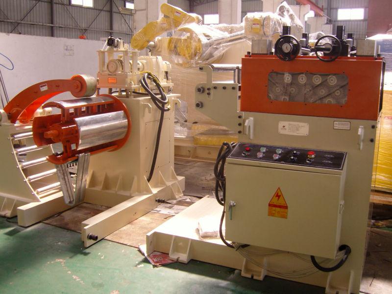 Hot heavy manual hydraulic stainless steel aluminium uncoiler and straightener machine
