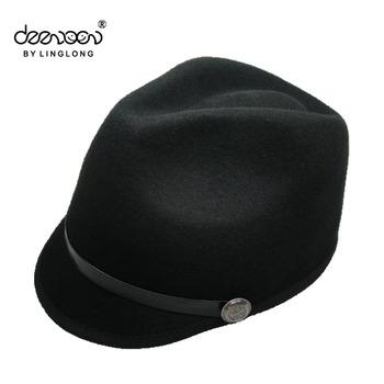 Black Winter Hats For Girls 100% Wool Felt Hats Cute Cloche - Buy ... 926a4ba7176