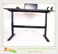 standing desk office depot adjustable laptop table single motor