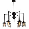 Loft pendant lamps industial iron circle spider chandelier decoration modern ceiling lamps with 6 arms