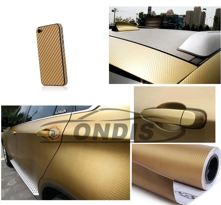1.52*28m Transparent 3D Carbon Fiber Vinyl Sticker For Mobile Phone Laptop