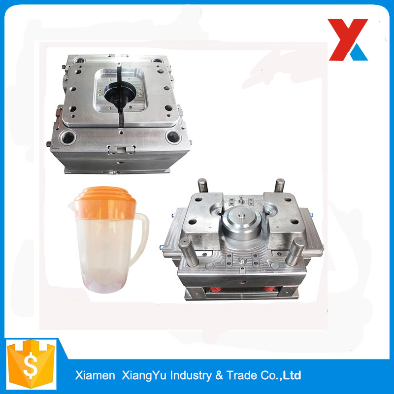 Custom injection mold plastic pitcher with lid