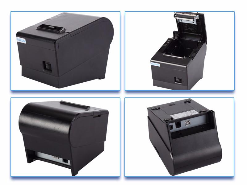 Schwarz Kassendrucker USB POS 58mm Thermal Dot USB Thermo-Belegdrucker Printer