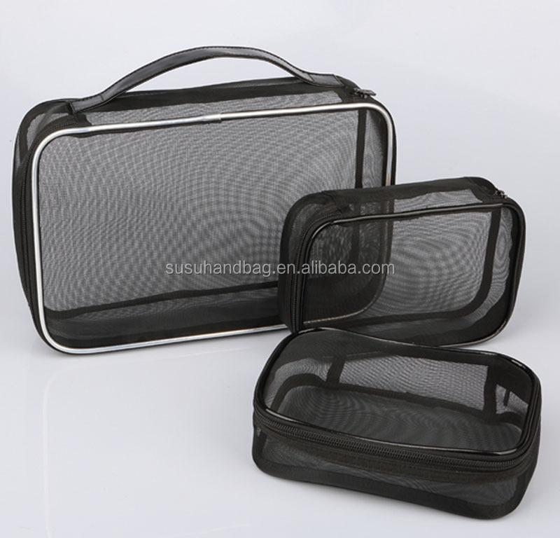 3PCS Travel Mesh Cosmetic Bag Sets