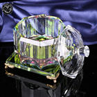 MH-G0327 rainbow glass wedding trinket box crystal jewelry box