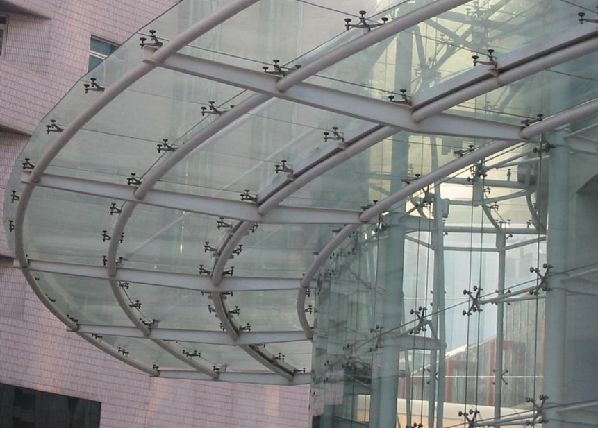 2015 New Design Structural Glass Curtain Walls Spider