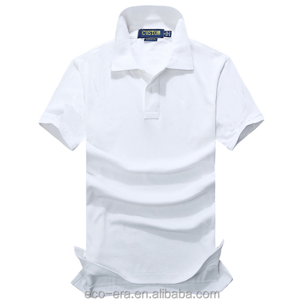Free Promotional Tshirts Cotton White Polo Blank T Shirt
