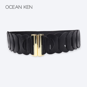 970b8b1c6e686 Black ceinture femme haute couture fashion wide elastic cinch belt women  belts 2019