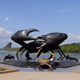 Outdoor Seaside Ornamental Bronze Sculpture Large Size Crab Statue Cancer Sculpture