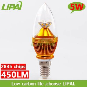 Good quality goldenLED candle light 5w E12 E14 CE& RoHS approved warm white nuetral white pure white cold white RGB candle light