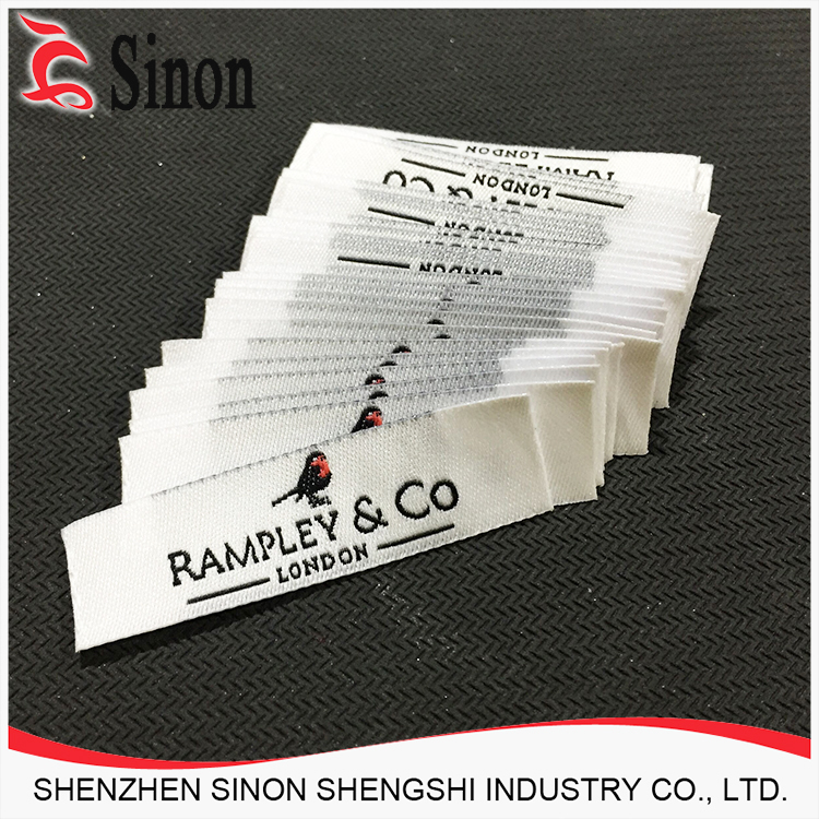 Hot sales basic accessory polyester printed label with information tag