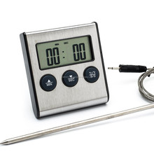 Digital Oven Thermometer Kitchen Food Cooking Grilling Meat BBQ Thermometer and Timer
