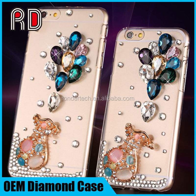 Luxury Sexy Beautiful Mobile Phone Rhinestone Case For Iphone 6 6S , Phone Bling Bling Bling Shell , 3D Crystal Diamond Shell