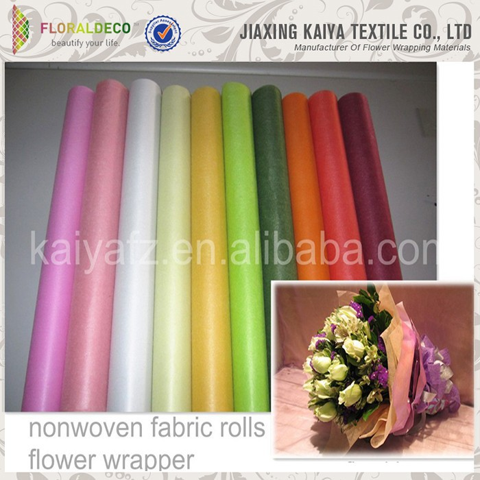 Colorful New Non Woven Flower Wrapping Paper View Non Woven Flower Wrapping Paper Kaiya Product Details From Jiaxing Kaiya Textile Co Ltd On