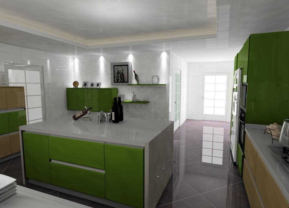 Kundenspezifisches Design Küche Speisekammer Schränke Mit Glastür ...