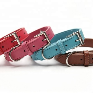 Real Leather Paw Cut Puppy Collars Adjustable Necklace Studs Pet Cat Dog Collars for small dog Medium and Large Pet