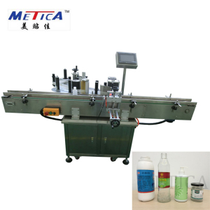 Automatic plastic round bottle sticker labeling machine and glass dropper tincture bottle labeling machine