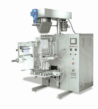 SAFM 20 AUGER SYSTEM STICK TYPE FILLING AND PACKAGING MACHINE 5 CHANNELS