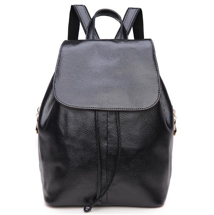 bed3de344 Get Quotations · Women Cowhide leather backpack 2015 New Fashion female  shoulder bag Leather school bags satchels Purses BH922