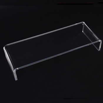 Simple Oblong Clear Acrylic Tv Stand Perspex Monitor Shelf