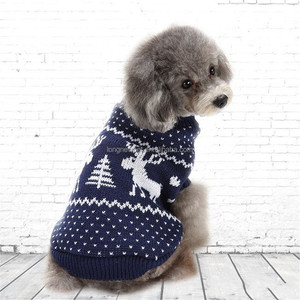Christmas Elk Dog Jumper Winter Pet Clothes Dog Sweaters for Small Dogs