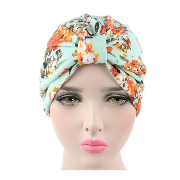 Xuancui factory promotional cheap price customized floral bandanas Muslim turban head wrap